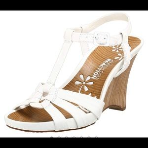 Kenneth Cole Reaction White wedge Limme heals